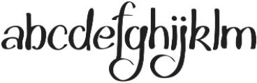 Hakyt otf (400) Font LOWERCASE