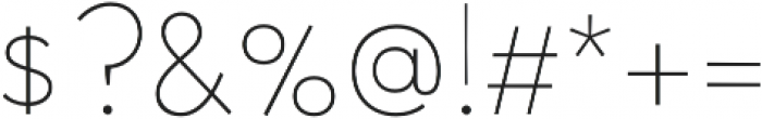 Halcyon Hairline otf (100) Font OTHER CHARS