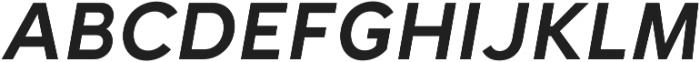 Halcyon SemiBold Italic otf (600) Font UPPERCASE
