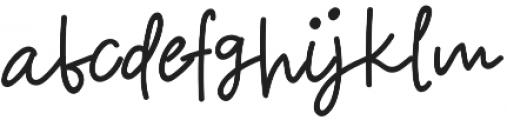 Halften otf (400) Font LOWERCASE