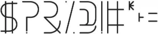 Halfway ttf (400) Font OTHER CHARS