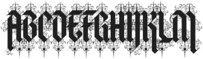 Halja OT Illuminated otf (400) Font UPPERCASE