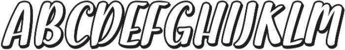 Halley Shadow otf (400) Font UPPERCASE
