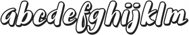 Halley Shadow otf (400) Font LOWERCASE
