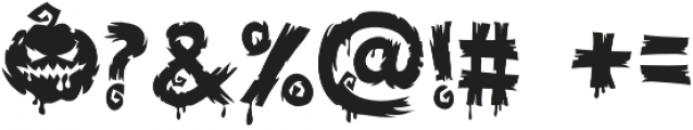 Halloween Voysla otf (400) Font OTHER CHARS