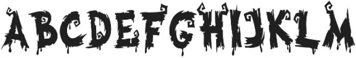 Halloween Voysla otf (400) Font UPPERCASE