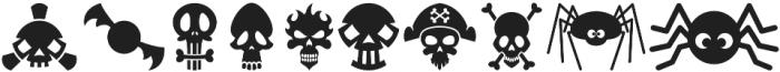 Halloweenbols Symbols otf (400) Font OTHER CHARS