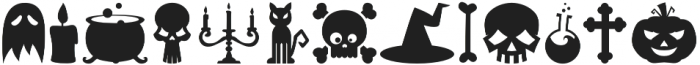 Halloweenbols Symbols otf (400) Font UPPERCASE