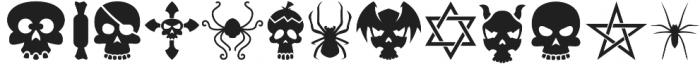 Halloweenbols Symbols otf (400) Font LOWERCASE