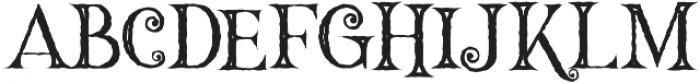 Hallowen Inline otf (400) Font LOWERCASE