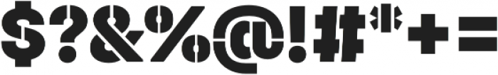 Halvar Stencil Mittelschrift Basic Basic Black MidGap otf (900) Font OTHER CHARS