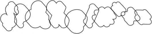 Halycoon Outline otf (400) Font OTHER CHARS