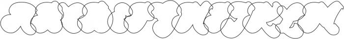 Halycoon Outline ttf (400) Font UPPERCASE