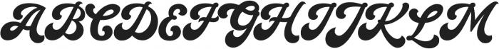 Halycoon Script otf (400) Font UPPERCASE
