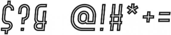 Hamburger Hop Inline Italic otf (400) Font OTHER CHARS