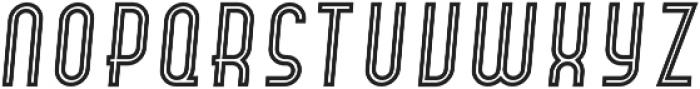 Hamburger Hop Inline Italic otf (400) Font UPPERCASE