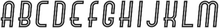 Hamburger Hop Inline Italic otf (400) Font LOWERCASE