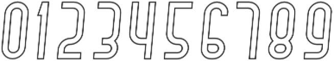 Hamburger Hop Outline Italic otf (400) Font OTHER CHARS