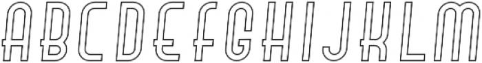 Hamburger Hop Outline Italic otf (400) Font LOWERCASE