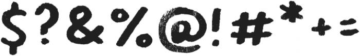 Hamilton Sans Painted Regular otf (400) Font OTHER CHARS