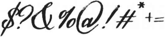 Hamilton Script Painted Regular otf (400) Font OTHER CHARS