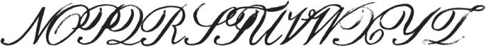 Hamilton Script Painted Regular otf (400) Font UPPERCASE