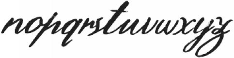 Hamilton Script Painted Regular otf (400) Font LOWERCASE
