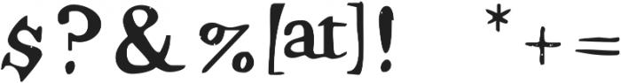 Hamilton Serif SVG ttf (400) Font OTHER CHARS