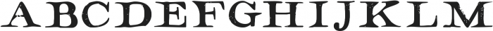 Hamilton Serif SVG ttf (400) Font UPPERCASE