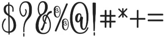 Hammerte otf (400) Font OTHER CHARS