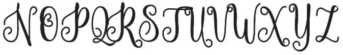 Hammerte otf (400) Font UPPERCASE