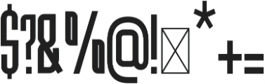 Hanca Regular otf (400) Font OTHER CHARS