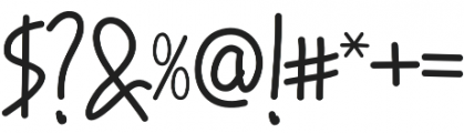 Hand Boys otf (400) Font OTHER CHARS