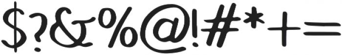 Hand Brush Serif Bold otf (700) Font OTHER CHARS