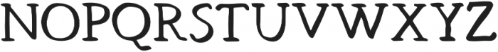 Hand Brush Serif Bold otf (700) Font UPPERCASE