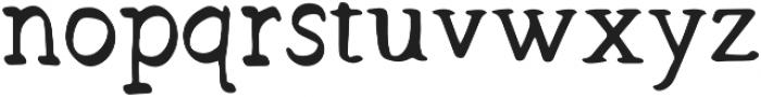 Hand Brush Serif Bold otf (700) Font LOWERCASE