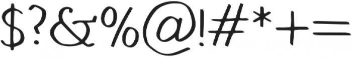 Hand Brush Serif Regular otf (400) Font OTHER CHARS
