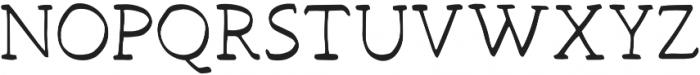 Hand Brush Serif Regular otf (400) Font UPPERCASE