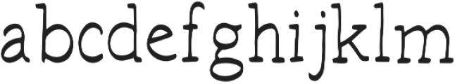 Hand Brush Serif Regular otf (400) Font LOWERCASE