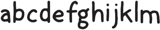 Hand Condensed Sans Bold otf (700) Font LOWERCASE