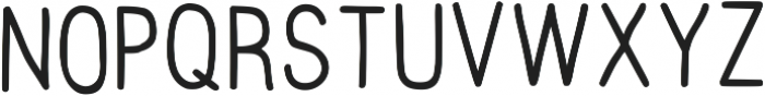 Hand Draw Sans Serif Regular otf (400) Font UPPERCASE