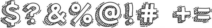 Hand Drawn 3D Voysla otf (400) Font OTHER CHARS