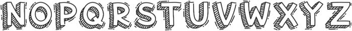 Hand Drawn 3D Voysla otf (400) Font UPPERCASE