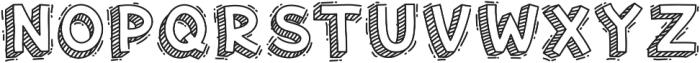 Hand Drawn 3D Voysla otf (400) Font LOWERCASE