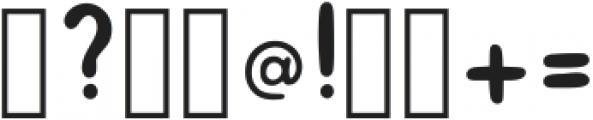 Hand Drawn Bold Font Regular ttf (700) Font OTHER CHARS