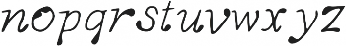Hand-Drawn-Reindeer otf (400) Font LOWERCASE