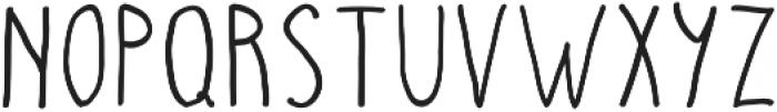 Hand Drawn otf (400) Font LOWERCASE