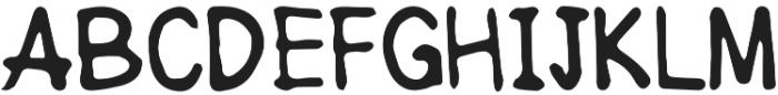 Hand Rock Letter Regular otf (400) Font UPPERCASE