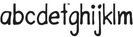 Hand Rock Letter Regular otf (400) Font LOWERCASE