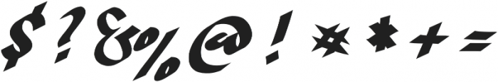 Hand Strike otf (400) Font OTHER CHARS